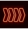 Neon arrow indicates the direction vector image