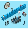 Concept for business people teamwork human vector image