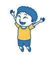 cute schoolboy cartoon vector image
