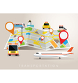 Map with Mode of Transport vector image