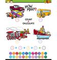 math educational task for children vector image