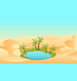 oasis in the desert vector image