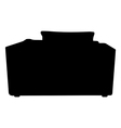 silhouette black Sofa isolated on white background vector image