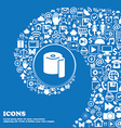 toilet paper icon sign Nice set of beautiful icons vector image