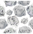 Monochrome pattern of roses vector image
