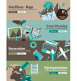 Concept For Travel Organization and Trip Planning vector image vector image