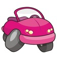 pink cartoon car vector image vector image