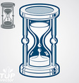 Eps8 high quality dimensional sand-glass ad vector image