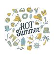 hot summer round pattern vector image