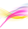 abstract smooth colorful wave background vector image