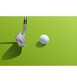 Iron and ball golf vector image