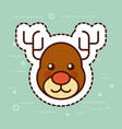 cute reindeer merry christmas decoration vector image