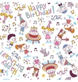 Happy Birthday kids party pattern vector image