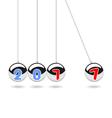 Happy new year 2017 Pendulum balls vector image