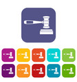 judge gavel icons set vector image