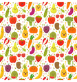 Seamless pattern with fresh vegetables and fruits vector image