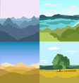 set of 4 images Landscapes vector image