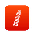 tower of pisa icon digital red vector image