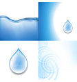 water backgrounds set vector image
