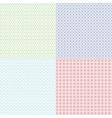 Guilloche patterns set for voucher vector image