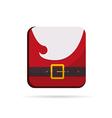 Santa Claus colorful button christmas vector image vector image
