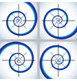 Abstract crosshair vector image