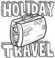 Holiday and travel vector image vector image