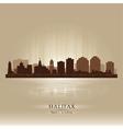 Halifax Canada skyline city silhouette vector image vector image