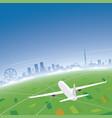 melbourne skyline flight destination vector image