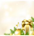 Christmas Or New Year Gold Background vector image vector image