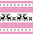 Cute reindeer pattern - black and pink vector image