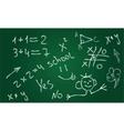 school chalkboard vector image vector image