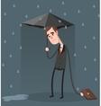 Unlucky Businessman vector image