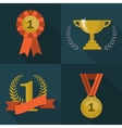 Set of trophy and awards icons vector image