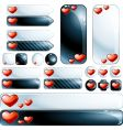 collection of glossy design elements vector image