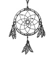 hand drawn indian dreamcatcher vintage vector image vector image