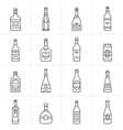Aalcohol bottles icon set vector image