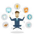 Businessman Icon Concept Poster vector image
