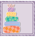 card with birthday cake vector image
