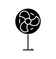 fan icon black sign on vector image