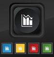 histogram icon symbol Set of five colorful stylish vector image