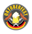 Oktoberfest logo - Traditional annual Beer vector image