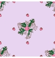Seamless pattern with bud anemone vector image