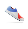 shoes design running shoes blue and red sneakers vector image