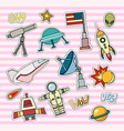 space patch badges vector image