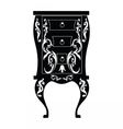 Elegant commode table with drawers vector image