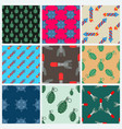 bomb and rockets set seamless pattern vector image