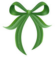 green grass leaf bow knot with drops of dew vector image vector image