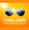 realistic fashionable aviator sunglasses poster vector image