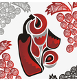 Wine abstract vector image vector image